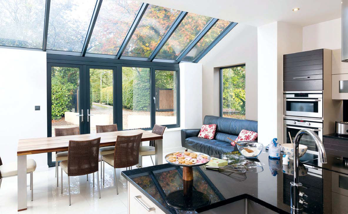 This Conservatory Kitchen Extension Needs Minimal Maintenance As It S Glazed In Pilkington Activ Self Cleaning Gl The Special Coating Reacts With