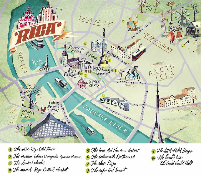The Perfect Weekend RIGA Pocketmagscom - Old riga map