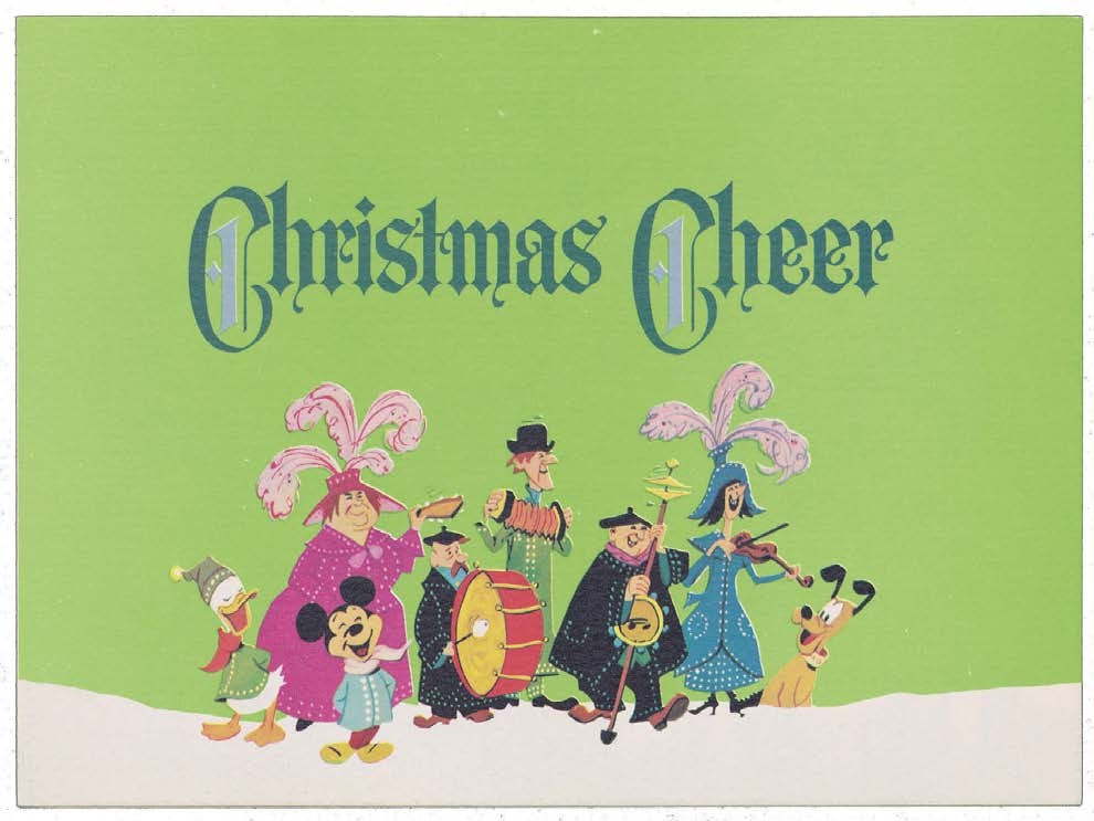 a christmas card from walt disney