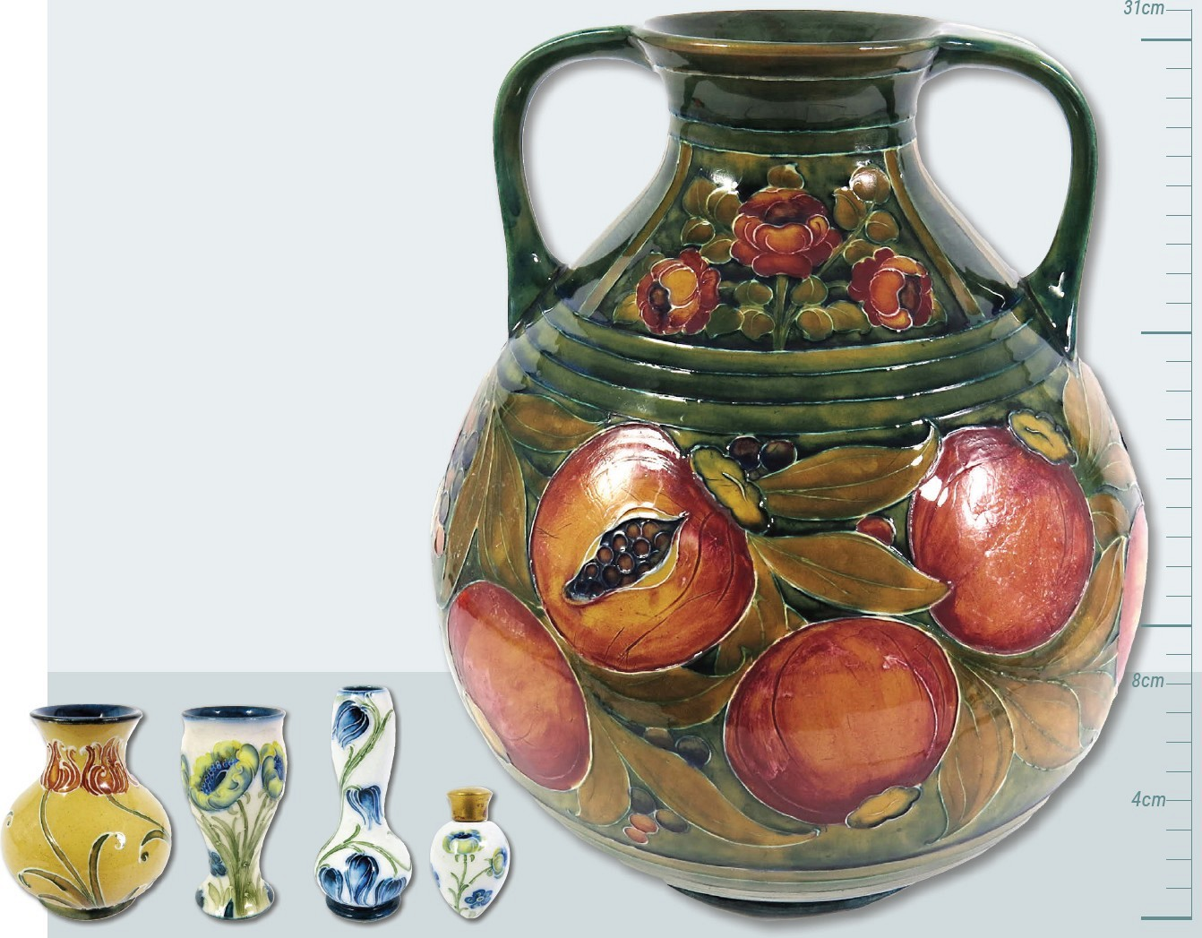 Big bids from collectors for Moorcroft little and large | Pocketmags com