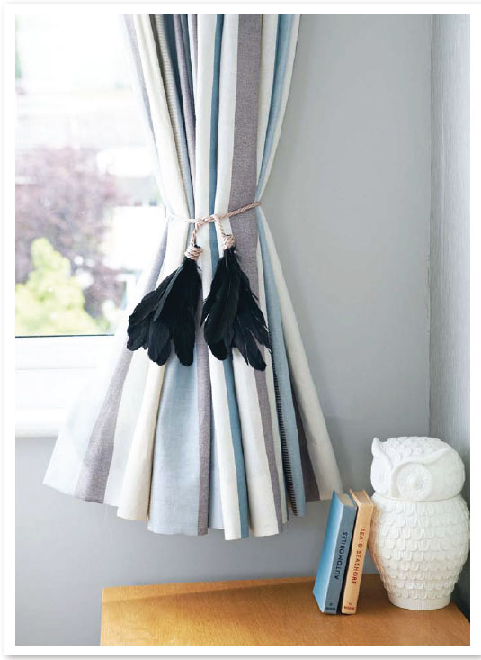Make The Look Feather Curtain Ties