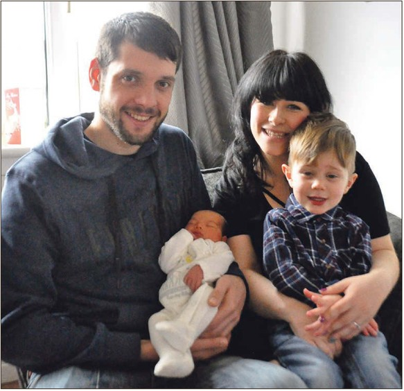 a baby boy due on january 1 arrived on christmas day much to the surprise of his delighted parents charlotte mcmanus and david campbell of taynuilt