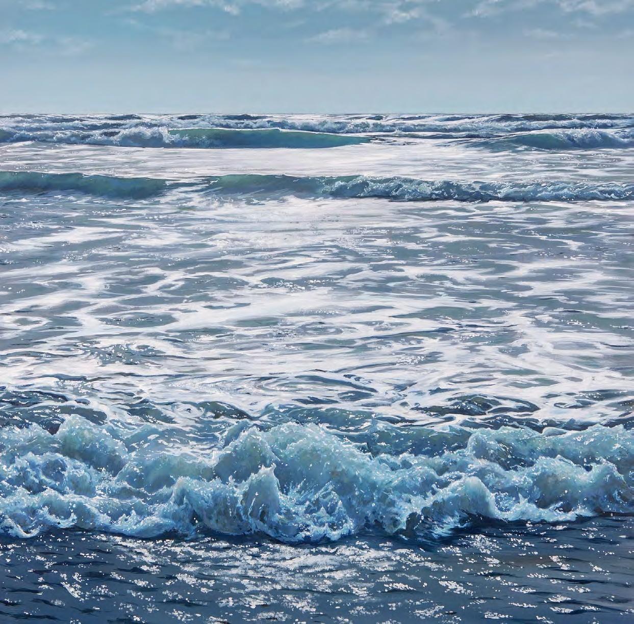 Realistic Ocean Oil Painting